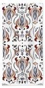 Floral Pattern IIi Beach Towel