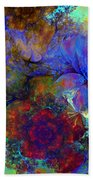 Floral Psychedelic Beach Towel