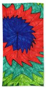 Floral Spin Beach Towel