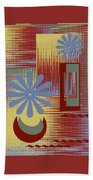 Floral Still Life In Red Beach Towel