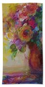 Floral Still Life Beach Towel by Mary Wolf