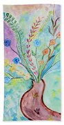 Floral Stream Beach Towel
