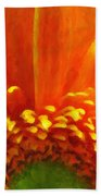 Floral Sunrise - Digital Painting Effect Beach Towel