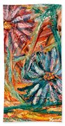 Floral Swirl Beach Towel
