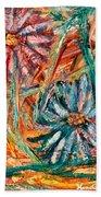 Floral Swirl Beach Sheet