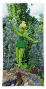 Floral Tinker Bell Beach Towel by Thomas Woolworth