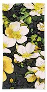 Floral Yellow Beach Towel