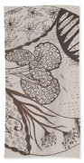 Floral Zen Tangle  Beach Towel