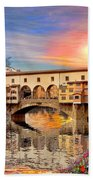 Florence Bridge Beach Towel
