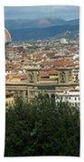 Florence Italy Panoramic Beach Towel