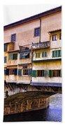 Florence Italy Ponte Vecchio Beach Sheet