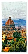 Florence Watercolor Beach Towel