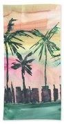 Florida City-skyline3 Beach Towel