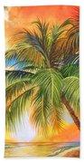 Florida Palm Sunset Beach Towel