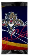 Florida Panthers Christmas Beach Towel