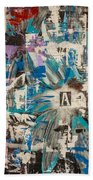 Flower Abstract Beach Towel