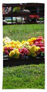 Flower Bed Beach Towel by Holly Blunkall