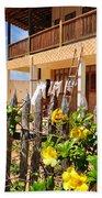 Flower Fence For A Beach Loft In Jeri Beach Towel