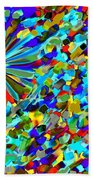 Flower Fight Abstract Beach Towel