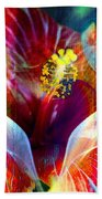 Flower Fire Power Beach Towel