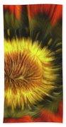 Flower Fractal Beach Towel