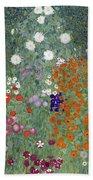 Flower Garden Beach Towel by Gustav Klimt