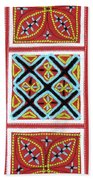 Flower Hmong Embroidery 01 Beach Towel