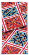 Flower Hmong Embroidery 02 Beach Towel
