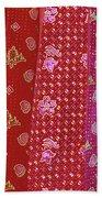 Flower Hmong Velvet Beach Towel