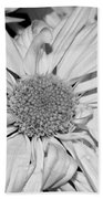 Flower In Black And White Beach Towel