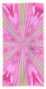 Flower Kaleidoscope Beach Towel