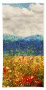 Flower - Landscape - Fragrant Valley Beach Towel by Mike Savad