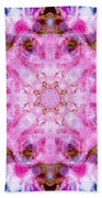 Flower Of Life Lily Mandala Beach Towel