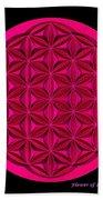 Flower Of Life - Pink Beach Towel