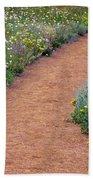 Flower Path Beach Towel