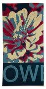 Flower Poster Beach Sheet