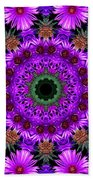 Flower Power Beach Towel by Kristie  Bonnewell