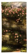 Flower - Rose - In The Rose Garden  Beach Towel