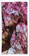 Flower - Sakura - Finally It's Spring Beach Towel by Mike Savad