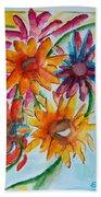 Flower Splash Beach Towel