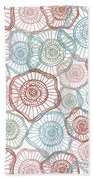 Flower Squiggle Beach Towel