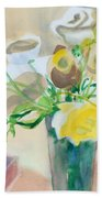 Flower Still Life          Beach Towel