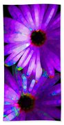 Flower Study 6 - Vibrant Purple By Sharon Cummings Beach Towel by Sharon Cummings