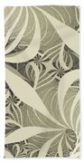 Flower Swirl Beach Towel