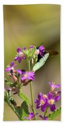 Flower With Bee Beach Towel
