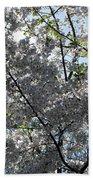 Flowering Cherry - White Beach Towel