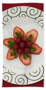 Flowering Fruits Beach Towel