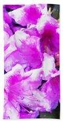 Flowers 2078 Oil Hp Beach Towel