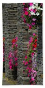 Flowers At Liscannor Rock Shop Beach Towel