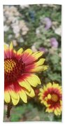 Flowers At The Farm Beach Towel